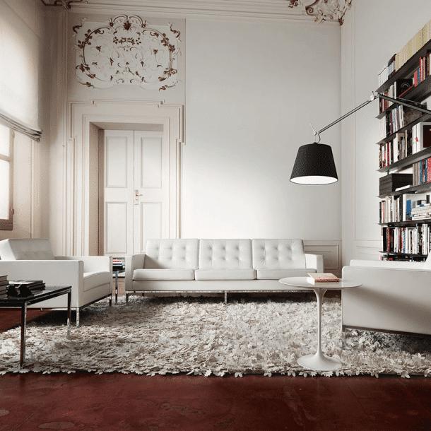 Visuel dans un salon du sofa de Florence Knoll